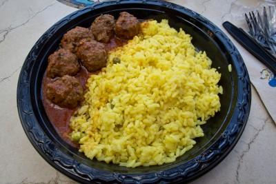 Polpette e riso al curry