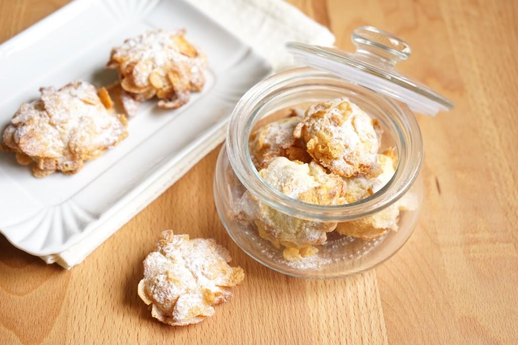 Rose del deserto: biscotti con i corn flakes