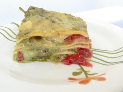 Lasagne al pesto e pomodorini