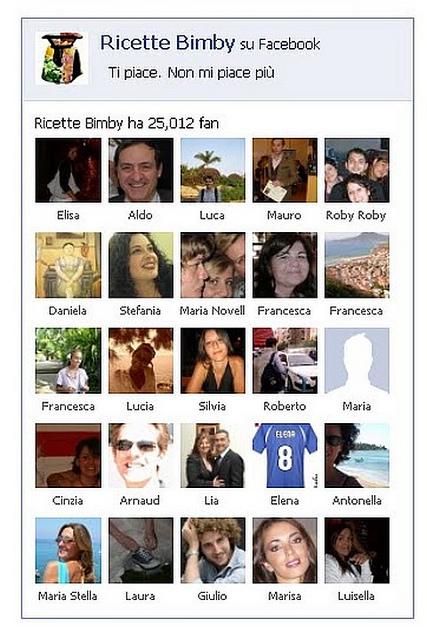Ricette Bimby su Facebook: 25.000 fan