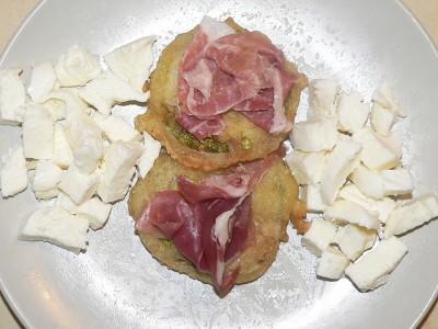 Zucchine tonde in pastella