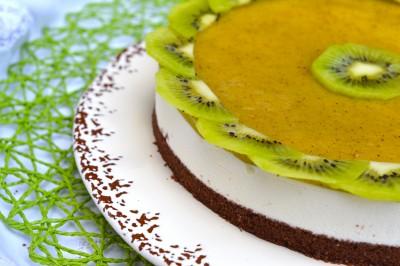 Cheesecake al cioccolato e kiwi