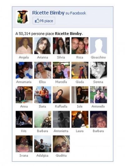 Ricette Bimby su Facebook: 50.000 fan