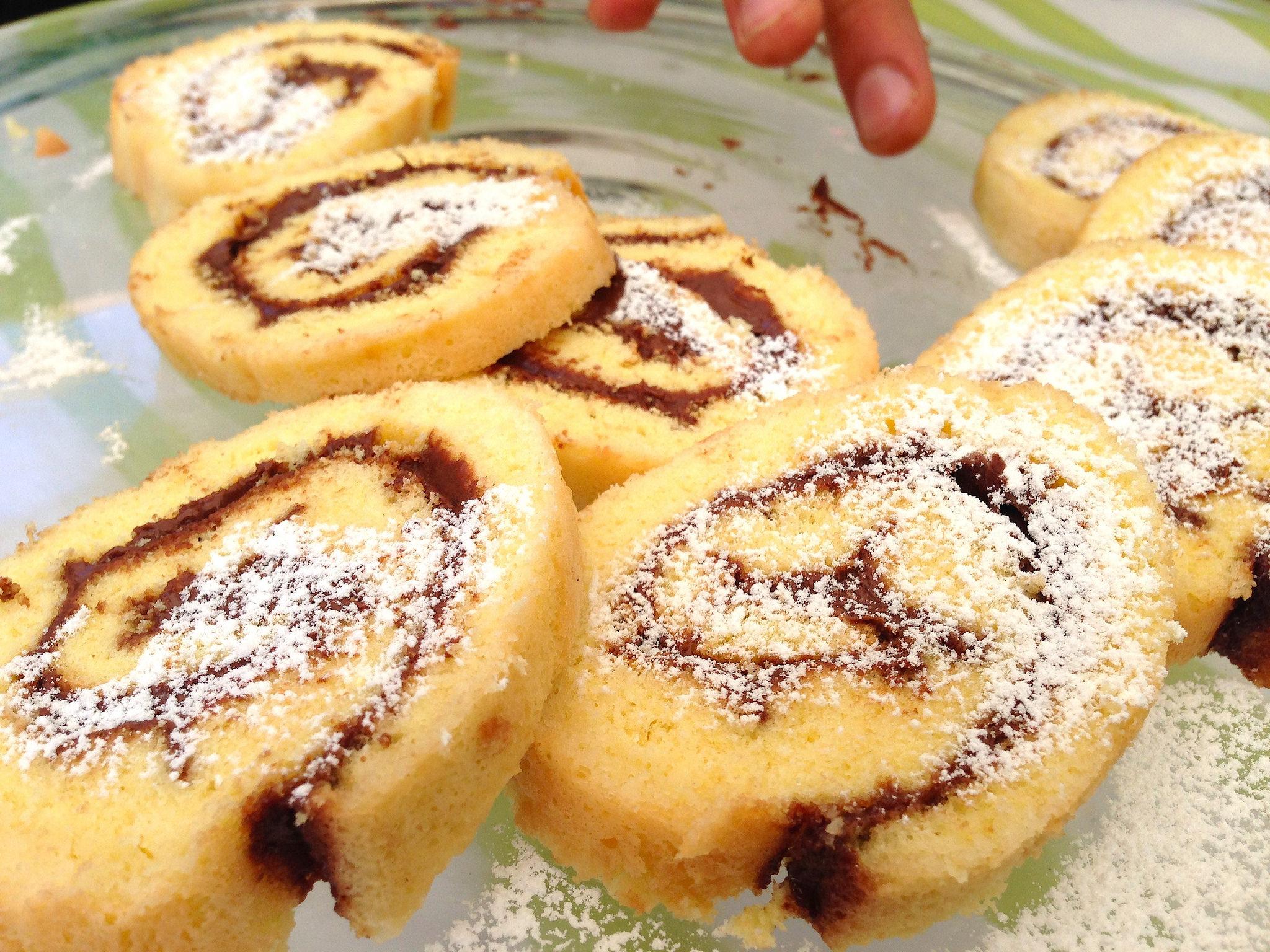 Rotolo alla nutella velocissimo bimby tm31 tm5 for Bimby ricette dolci