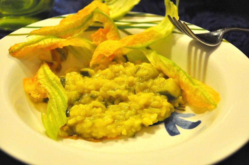 Risotto allo zafferano e zucchine