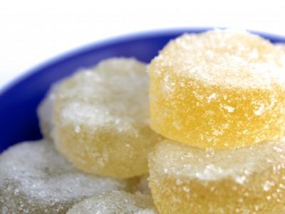 Caramelle gelatine al limone: gelèe