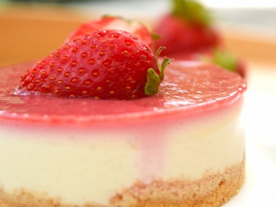 Cheesecake vegan alle fragole
