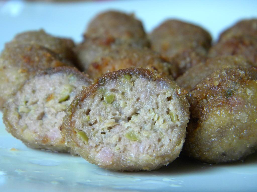Finte olive ascolane: olivelle di carne
