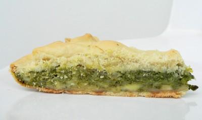 Pizza rustica con spinaci ed emmentaler