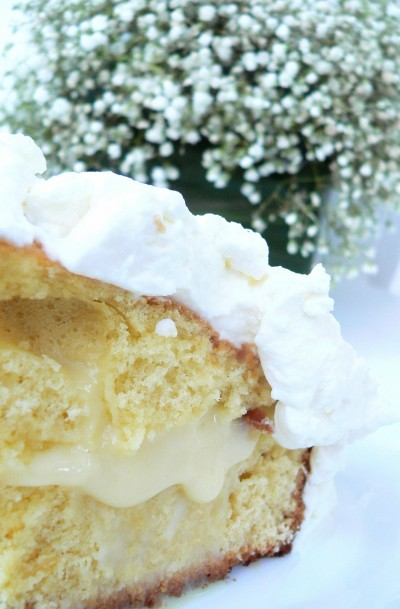 Torta allo yogurt con crema e panna