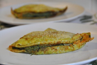 Crepes salate ricotta e spinaci
