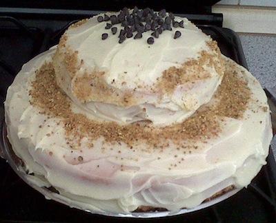 Torta farcita con crema al mascarpone