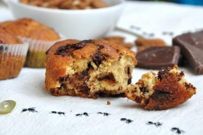 Muffin senza latte e burro con gocce di cioccolato