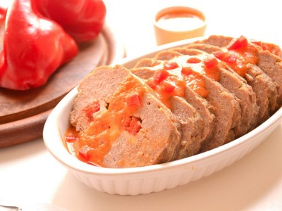 Polpettone di carne e peperoni