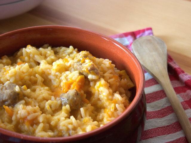 Ricetta bimby riso con la zucca