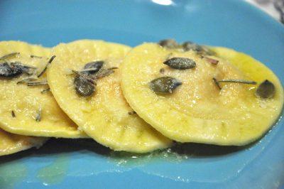 Ravioli zucca e amaretti