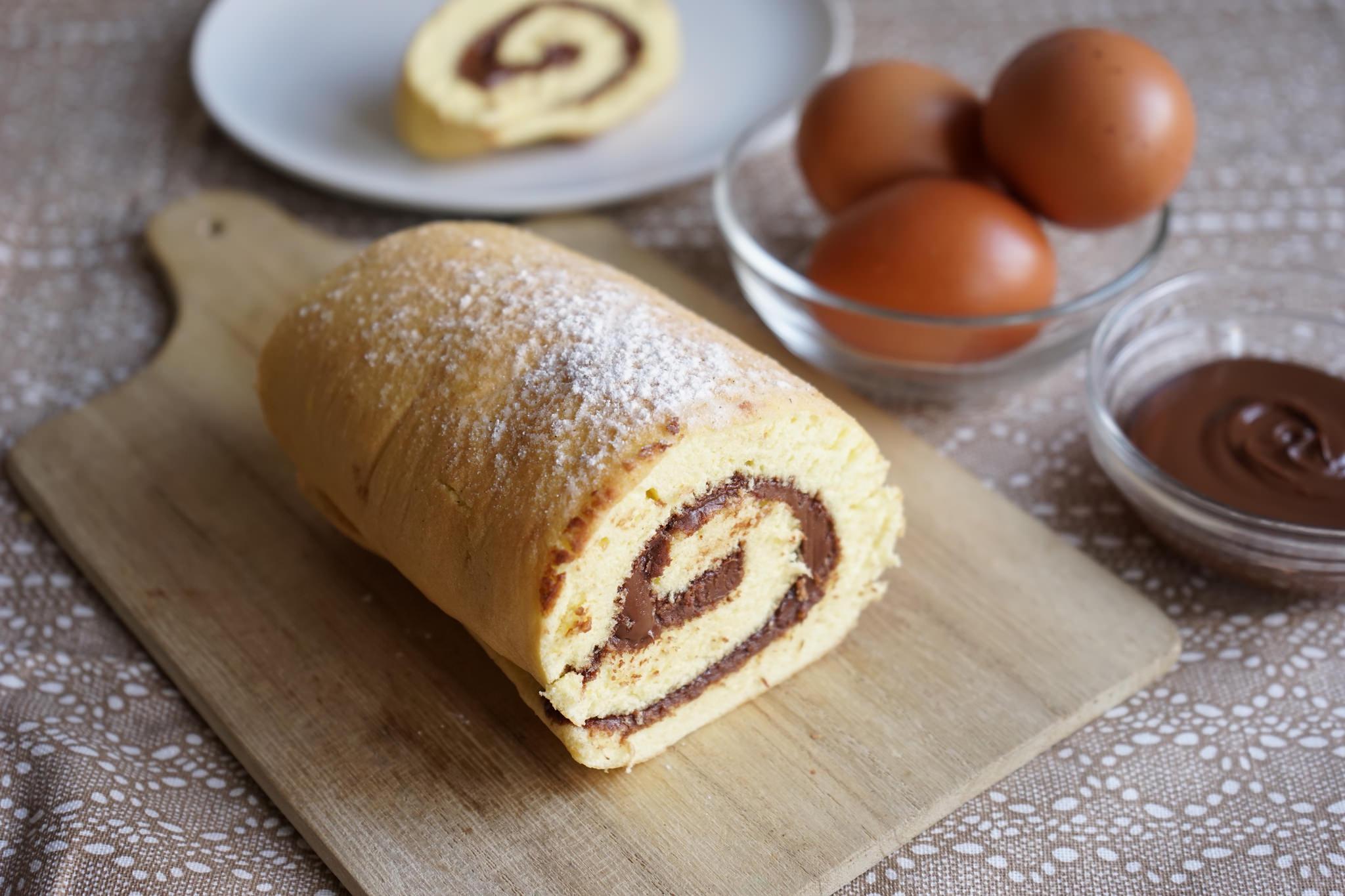 Rotolo alla nutella senza lievito bimby tm31 tm5 for Bimby ricette dolci