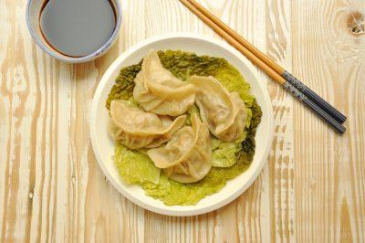 Ravioli di carne al vapore cinesi