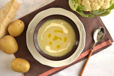 Vellutata di cavolfiore e patate