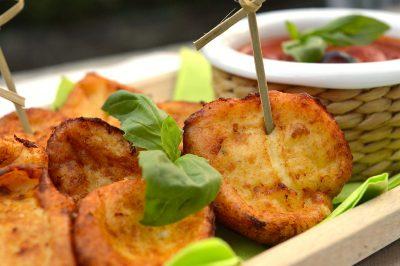 Frittelle di ricotta salate