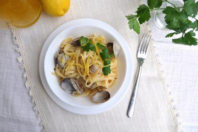 Linguine al limone e vongole