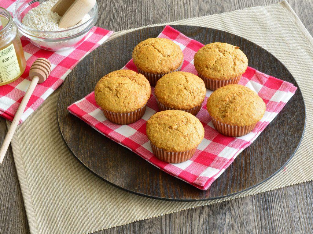 Muffin con farina integrale e miele