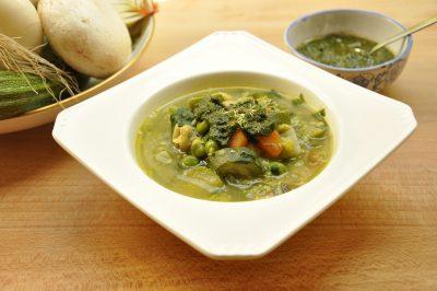 Minestrone di verdure e legumi