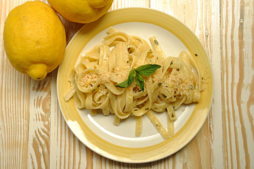 Pasta limone e menta