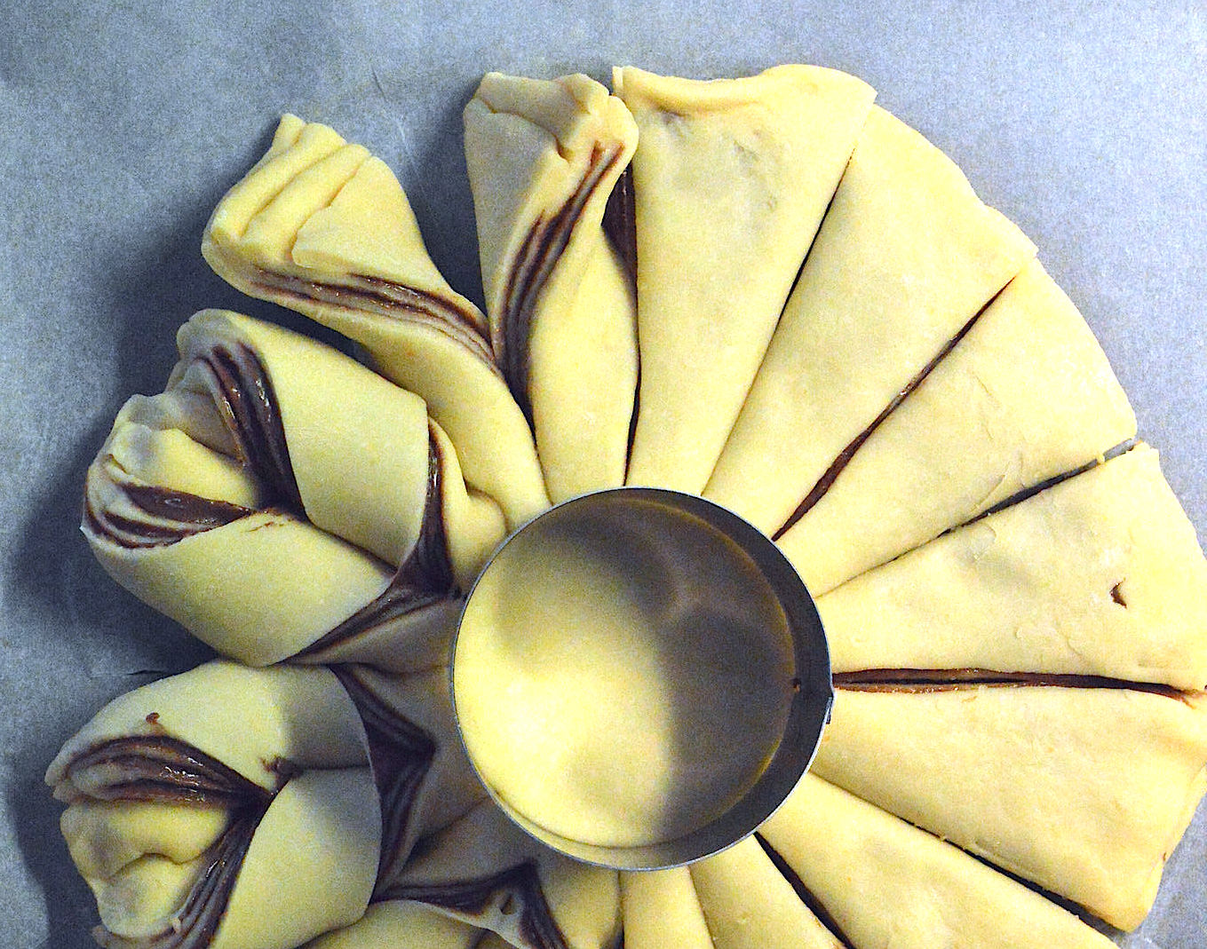 Fiore di pan brioche alla Nutella Bimby TM31 | TM5