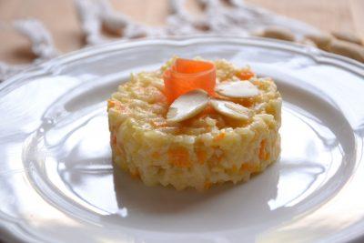 Risotto carote e mandorle