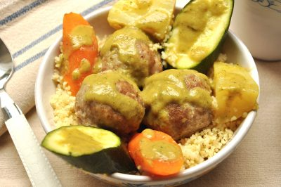 Couscous con polpettine di carne e verdure