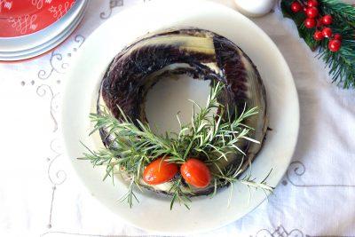 Corona di riso natalizia