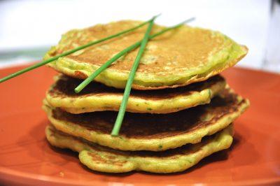 Pancake salati alle erbe