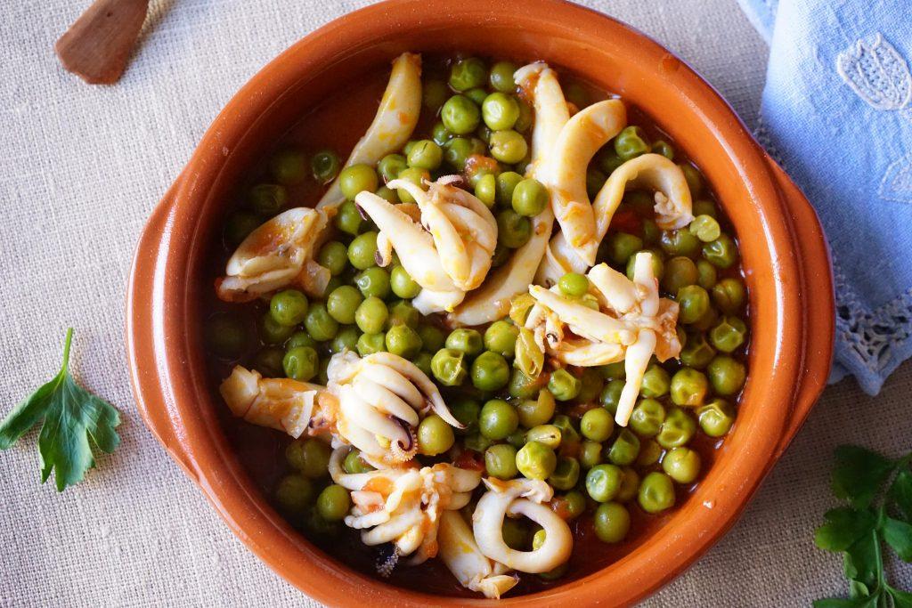 Seppioline con piselli bimby tm31 tm5 for Cucinare seppie