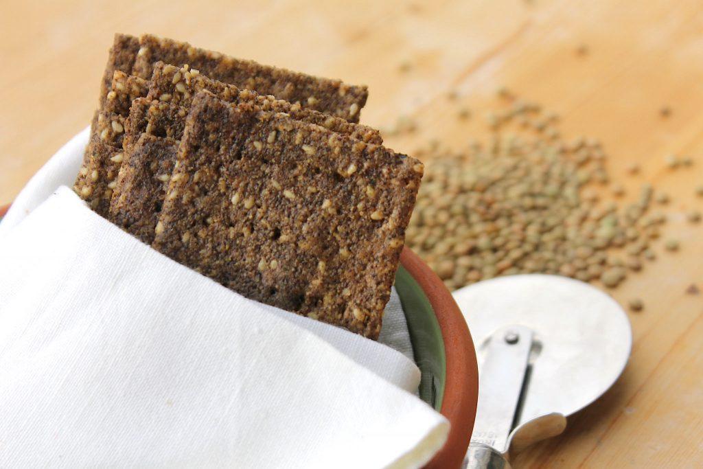 Cracker con farina di lenticchie