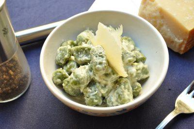 Gnocchi verdi con fonduta
