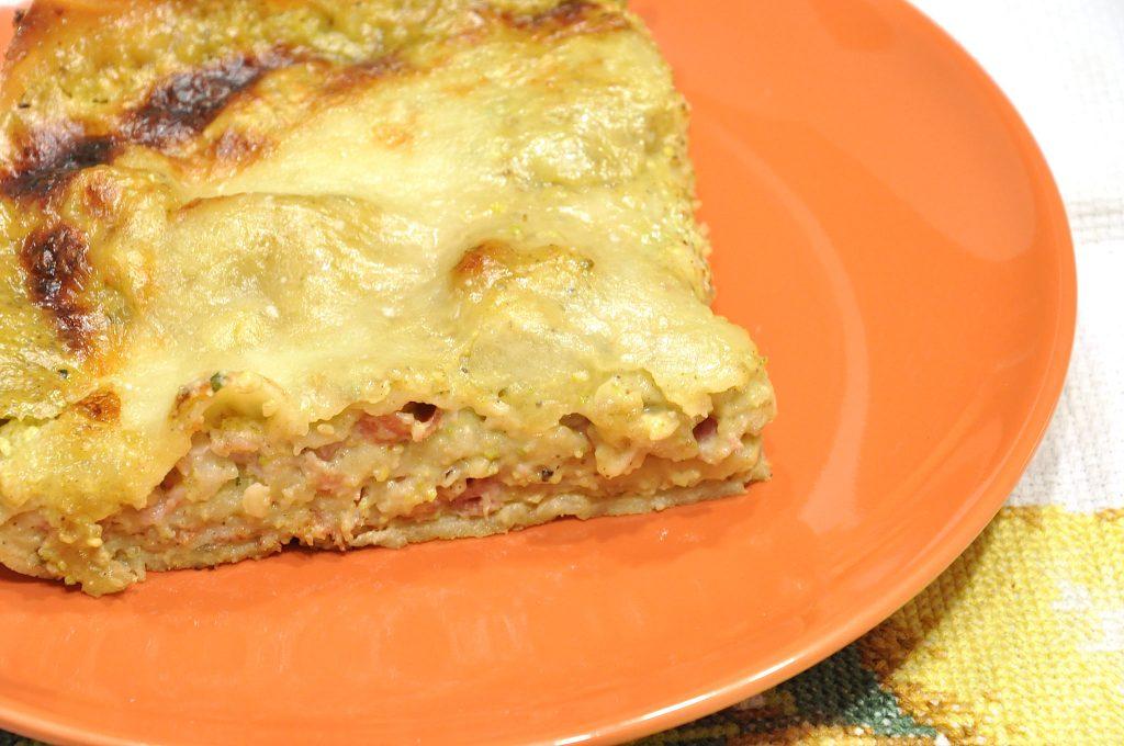 Lasagne pistacchio e speck