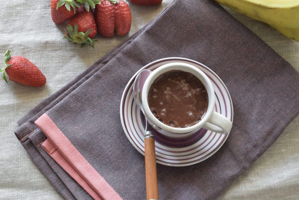 Budino al cioccolato senza cottura