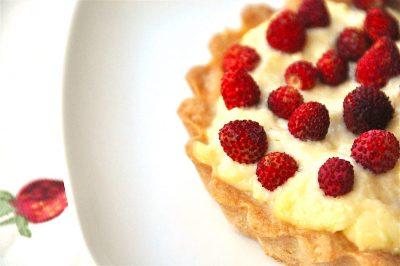 Crostata con fragoline di bosco