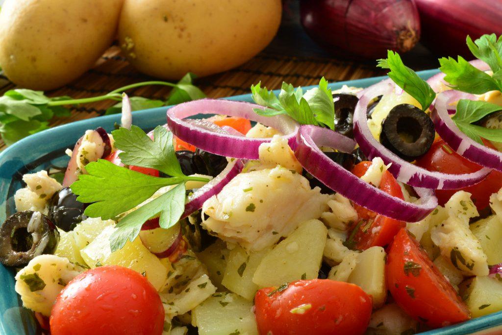 Insalata di patate e baccala