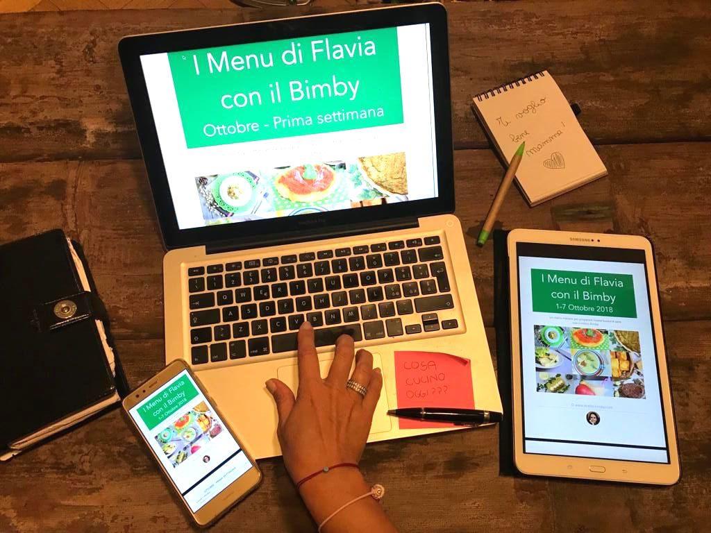 I Menu di Flavia con il Bimby – Abbonamento trimestrale