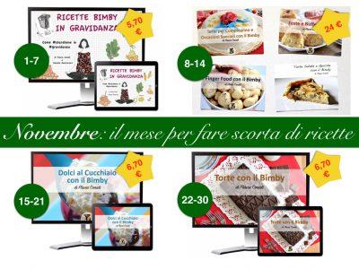 Novembre: 4 settimane per 4 ricettari eBook