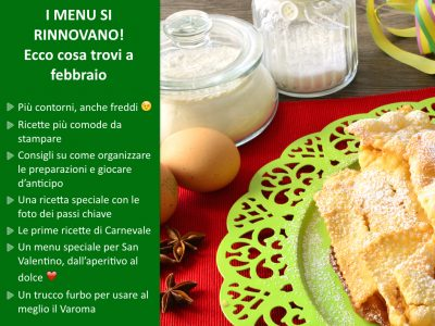 I menu di Flavia con il Bimby – Febbraio