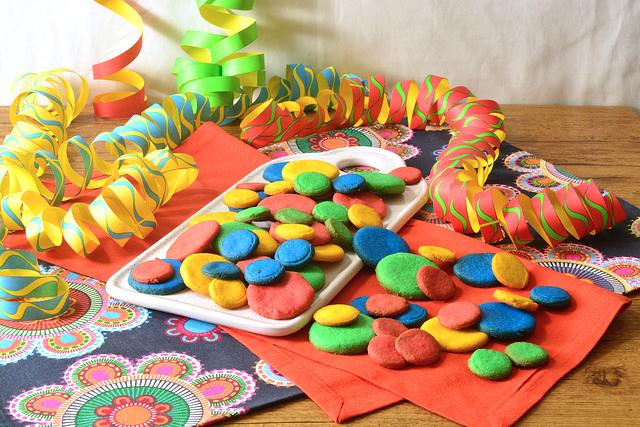Biscotti coriandoli di Carnevale