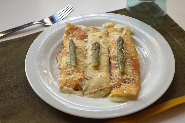 Crêpes agli asparagi