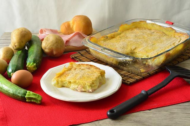 Gateau di patate e zucchine
