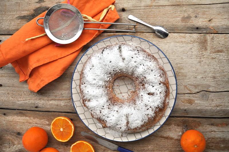 Ciambella all'arancia sofficissima senza glutine e senza lattosio