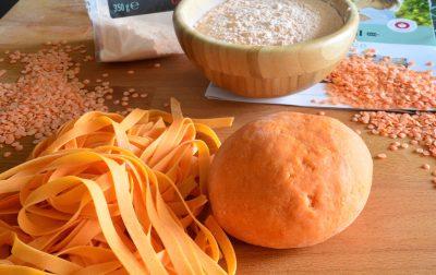 Pasta con farina di lenticchie