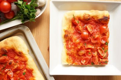 Pizza marinara Bonci style