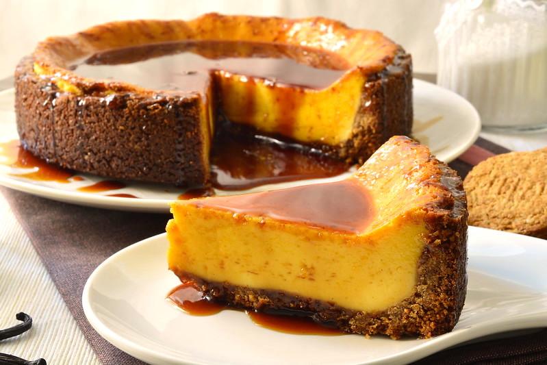 New York cheesecake al caramello